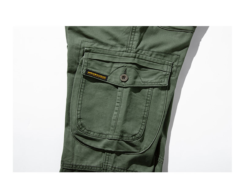 KSTUN 2020 Mens Military Cargo Pants Multi-pockets Baggy Men Cotton Pants Casual Overalls Army Oustdoor Tactical Trousers High Quality 26