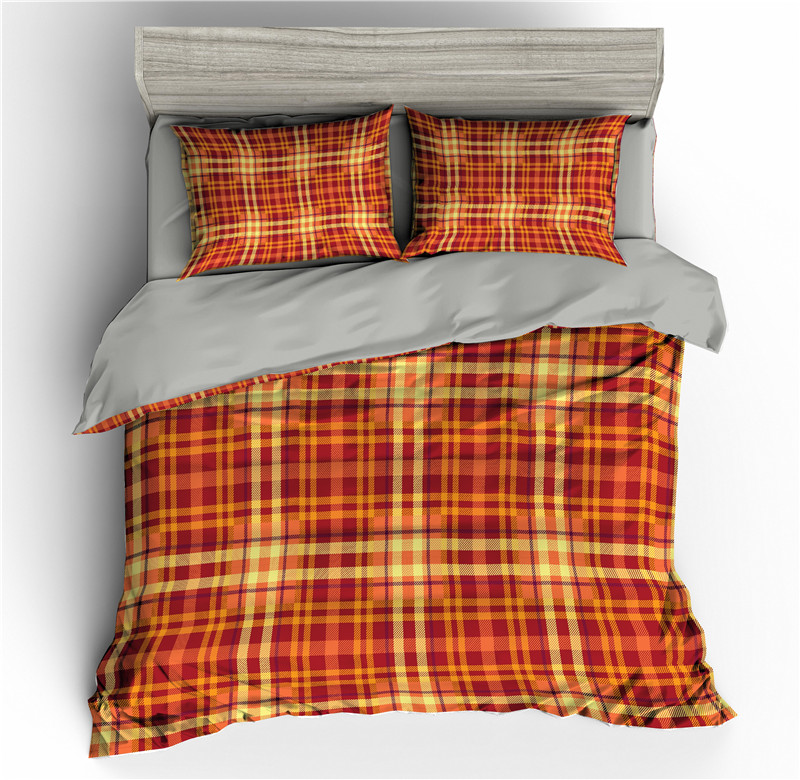 Plaid Pattern 3D Bedding Sets Duvet Cover Set Quilt Covers Bed Set Comforter Bedding Set Single Twin Full King Queen Size