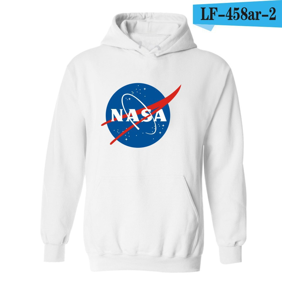 Occident Fashion 2016 Autumn And Winter New Style Popular Brand America Space Agency Logo NASA Coat Pullover Hoodie
