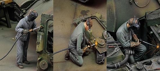 1/35   Ancient Repaires  Mechanic Woker Include 3 (NO TANK )    Resin Figure Model Kits Miniature Gk Unassembly Unpainted