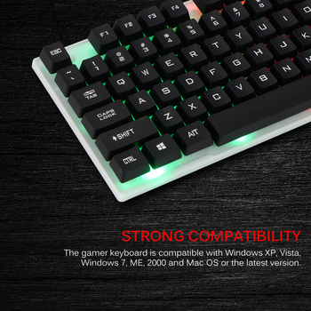 Combo PC Gamer LED Gaming Keyboard And Mouse Set Wired 2.4G Keyboard Gamer Keyboard Illuminated Gaming Keyboard Set For Laptop 4