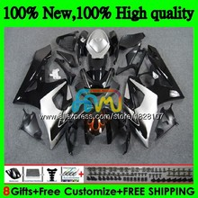 Корпус для SUZUKI GSXR-1000 GSX R1000 GSXR 1000 CC 05 черный, серебристый цвет 06 42BS. 32 GSX-R1000 1000CC 05 06 K5 GSXR1000 2005 2006 обтекатель
