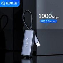 ORICO – carte réseau Lan usb 3.0 Ethernet, adaptateur Type C vers RJ45 gigabit, pour MAC, Windows 10, PC, Xiaomi