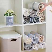 Storage-Pants Organize Finishing Rolling-Board Wardrobe Artifact Fold Fast-Speed PP 10pcs/Set