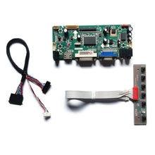 Para n184h6/n184hge/ltm184hl01/ltn156ht01 lvds tela led 60hz 1920*1080 hdmi + vga + dvi 40 pinos placa controlador de exibição kit diy