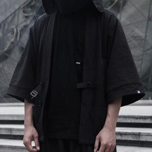 WHYWHORKS Techwear халат оверсайз уличная куртка Черный солнцезащитный Топ авангардный дизайн