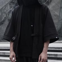 WHYWHORKS Techwear Robe oversized street jacket Black sunproof top avant-garde d