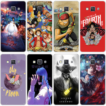 A for Samsung Galaxy E5 E5000 SM-E500F E500 E500H E500F case Cover for Samsung Galaxy E7 E700H E700F E7000 Clear cartoon Case image