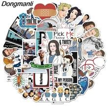 K1303 Dongmanli 50 Uds., pegatinas de Anatomía de grises para álbumes de recortes, insignias creativas, pegatinas decorativas, teléfono móvil portátil Vintage