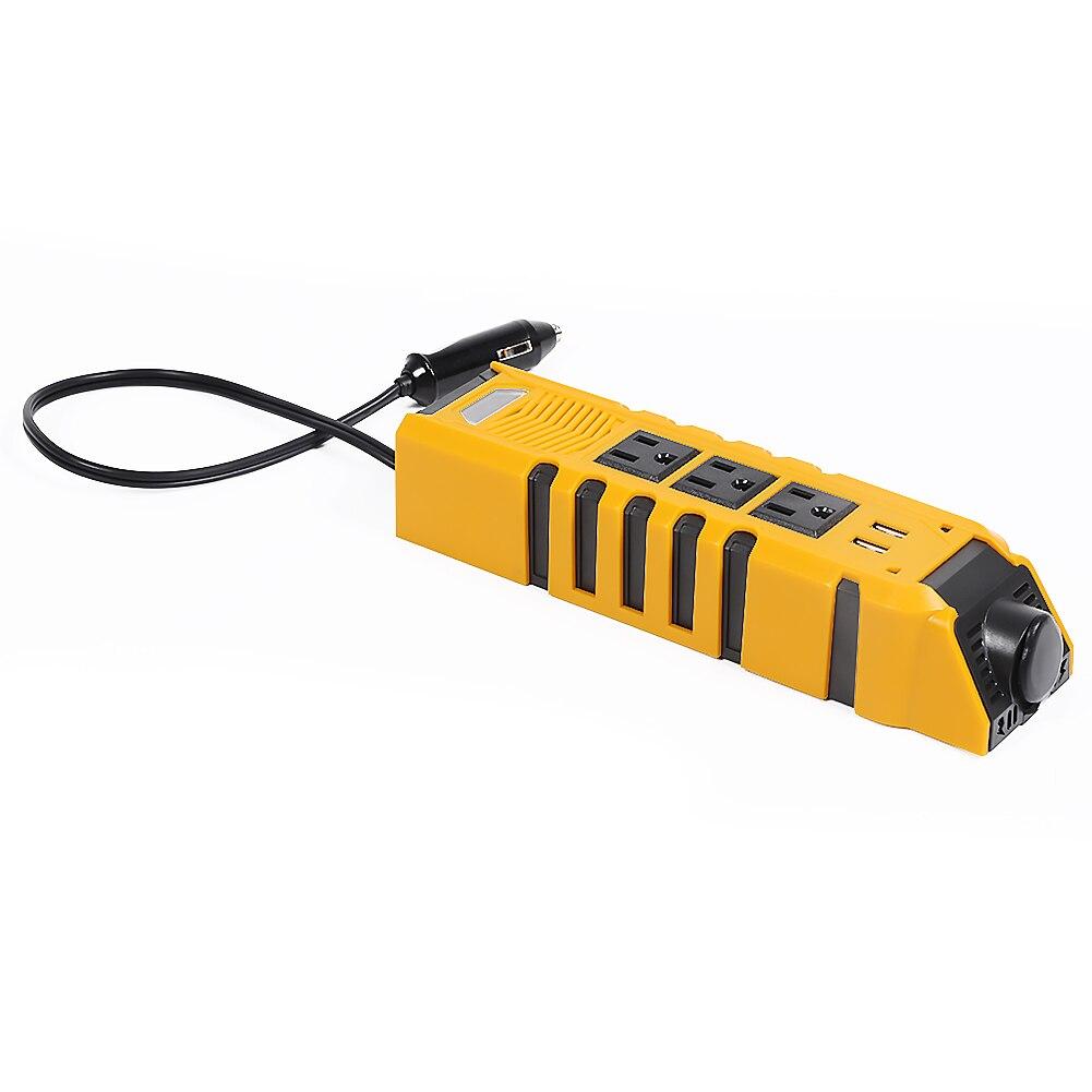 150W Auto Power Inverter Streifen Flammschutzmittel Kunststoff Dual USB Lade Ports Konverter Adapter DC12V zu AC110V Outlets UNS stecker