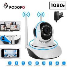 PODOFO Wireless 1080P HD IP Camera WiFi Surveillance Camera With Night Vision Motion Detection EU AU US UK Plug For Home