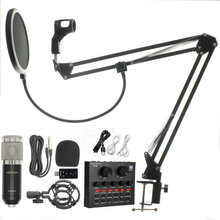 bm 800 Microfono kit Studio Microphone Recording Condenser Karaoke Microphone For Audio Sound Recording Microphone cheap KEBTYVOR Condenser Microphone Computer Microphone Single Microphone Tabletop Wired Uni-directional BM-800 + NB35