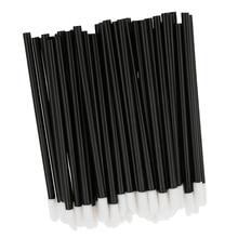 Pack Of 50 Black Handle Disposable Lip Brush Lipstick Makeup Tool