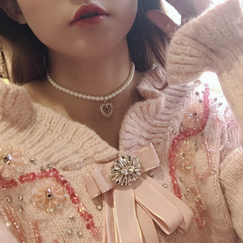 Kpop Heart chain Choker Necklaces For Women collar Goth Necklace aesthetic jewellery Valentines Party Girl Gif halloween