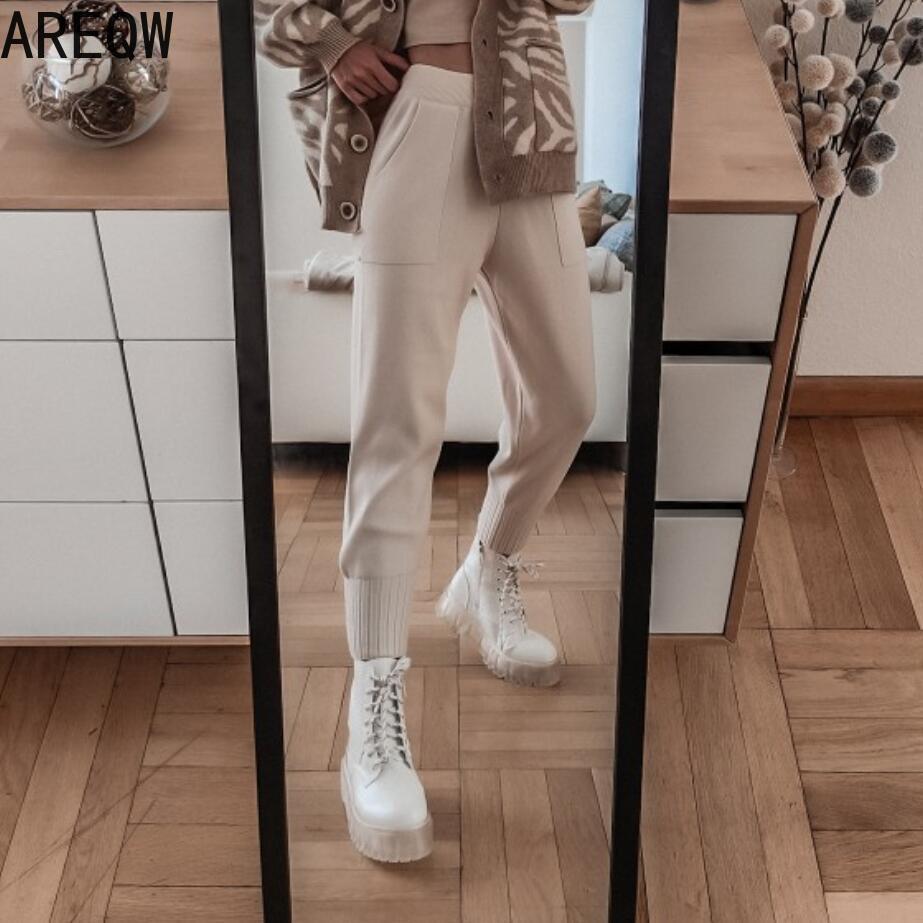 Осенне зимние женские штаны, повседневные теплые мягкие уличные штаны шаровары|Брюки |   | АлиЭкспресс - Одежда и обувь