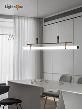 Minimalist dining room pendant lamp Nordic dining table modern minimalist design tube pendant light