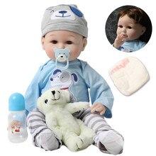 56cm bebê silicone bonecas reborn, 22 polegadas, vivo, criança, realista, real, menina, menino, boneca do bebê, aniversário, jogar, brinquedos para crianças