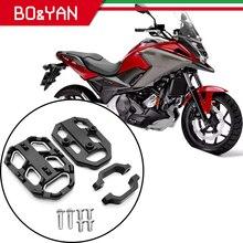 Honda için NC750X NC750S NC700X NC700S 2012 2019 motosiklet ön pedalı uzatma plakası ön pedalı güçlendirici kiti