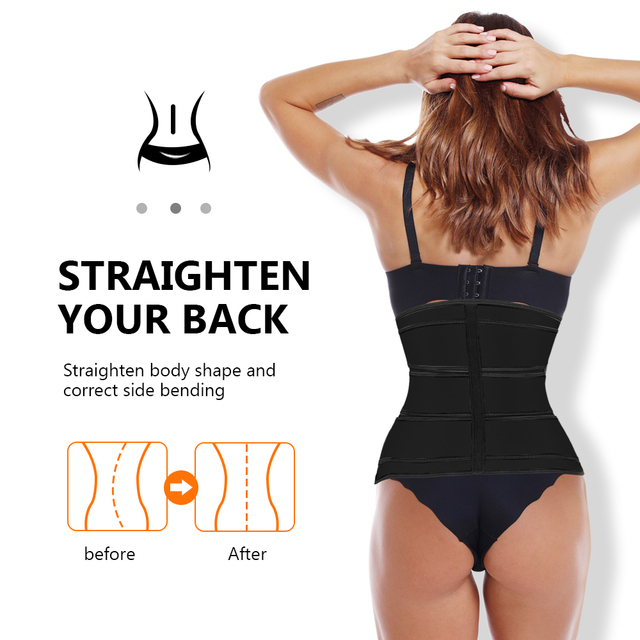 Waist Trainer Women Thermo Sweat Belts For Women Waist Trainers Corset Tummy Body Shaper Fitness Modeling Strap Waste Trainer 3