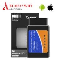 OBD2 ELM327 V1.5 Wifi Code Reader Scan Tool Auto Diagnostic Tool ELM 327 Scanner For iSO/Android for 12V OBD2 Gasoline Cars obdii scanner wifi scannerdiagnostic tool elm 327 -