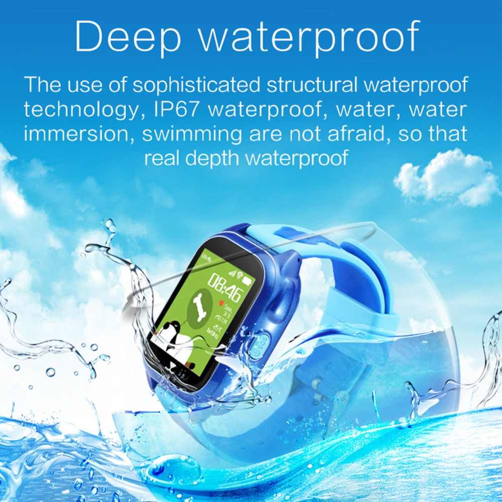 IP67 Waterproof Smart Watch Kids GPS Tracker SOS Call Location Device Children Smartwatches Safe Anti-Lost Monitor Watch Kids