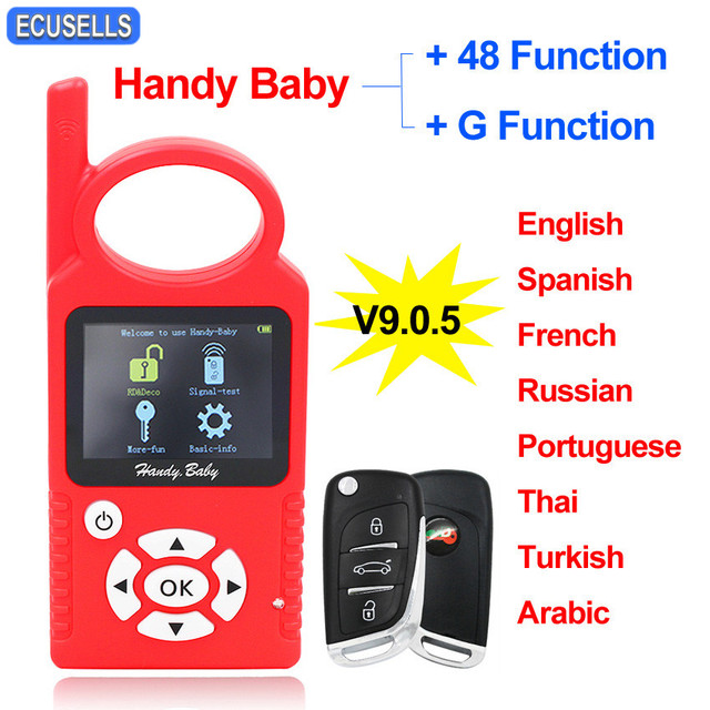 JMD Handy Baby Auto Key Tool for 4D/46/48/G/King Chip Programmer CBAY Multi language Chips Copier with/no G/96 bit 48 Funciton