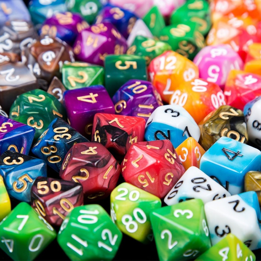 2019 7pcs/lot Resin Multifaceted Dice D&d D4 D6 D8 D10 D% D12 D20 Polyhedral TRPG Games Dice Set Board Game Dice Party Game