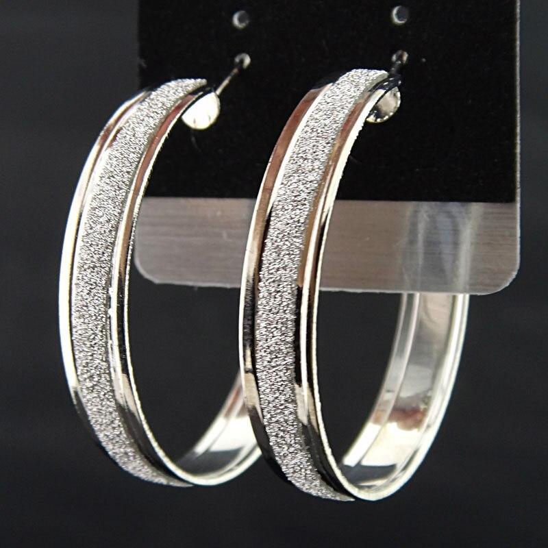 Лидер продаж, модные женские серьги-кольца с принтом зебры из матового серебра, большие вечерние ювелирные изделия, женские серьги в подарок - Окраска металла: Silver