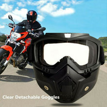 Detachable Motorcycle Mask Goggles Masks Moto Wind Dust Proof Racing Cycling Helmet Protective Goggles Mascara Capacete new safety glasses protective motorcycle goggles dust wind s