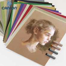 France Canson Soft Pastel Paper 8K Mi-Teintes Sketch Color Drawing Painting Papers Professional Oil Pastel Paper 12Pcs Sandless