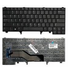 Клавиатура GZEELE New US для Dell Latitude E5420 E5430 E6320 E6330 E6430, английская без точечной ручки