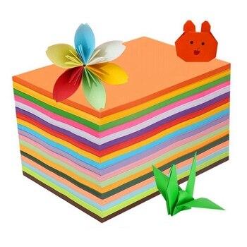 A4 rozmiar 80g puzzle papierowe dla dzieci cięcie kwiatów kolor Handmade Origami ciężki laser atramentowy druk kolorowy papier fluorescencyjny