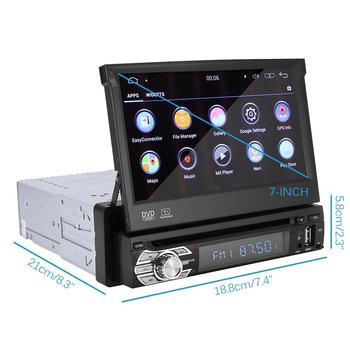 Hot 7inch Car Player Android 8.0 Car Radio 1 Din with DVD GPS Navigation Stereo FM BT AUX Reverse Camera