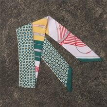 5шт/лот квадратный шарф волос галстук браслет для женщин элегантный бизнес ну вечеринку головы шеи маленький шелковый атлас сумки ручка украшения