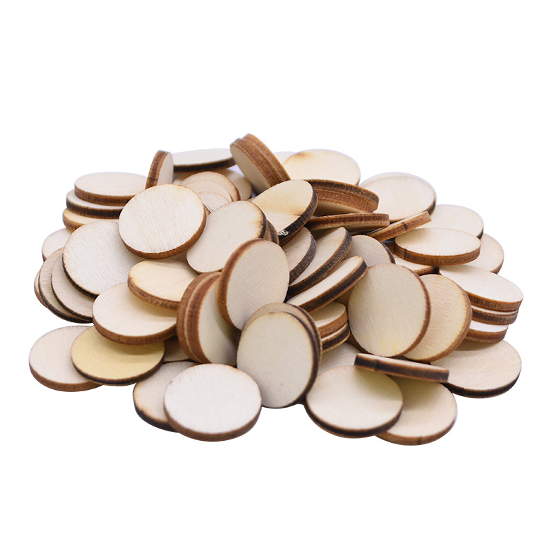 Natural Round Shape Wood Chip Unfinished Wood Cutout Circles Without Hole DIY Handmake Wooden Craft Wedding Home Decor Supplies(China)