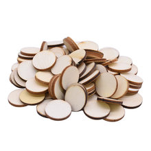 Natural Round Shape Wood Chip Unfinished Wood Cutout Circles Without Hole DIY Handmake Wooden Craft Wedding Home Decor Supplies