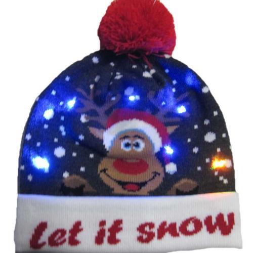 Г., 43 дизайна, светодиодный Рождественский головной убор, Шапка-бини, Рождественский Санта-светильник, вязаная шапка для детей и взрослых, для рождественской вечеринки - Цвет: 19