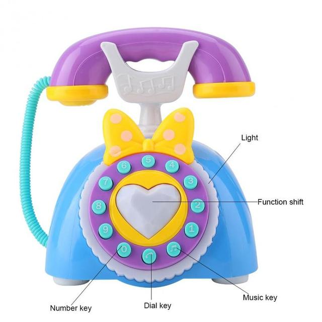 Learning Musical Toy Kid Simulation Plastic Telephone Toy Children Educational Gift Kids Electric Music Phone Pretend Play Sound