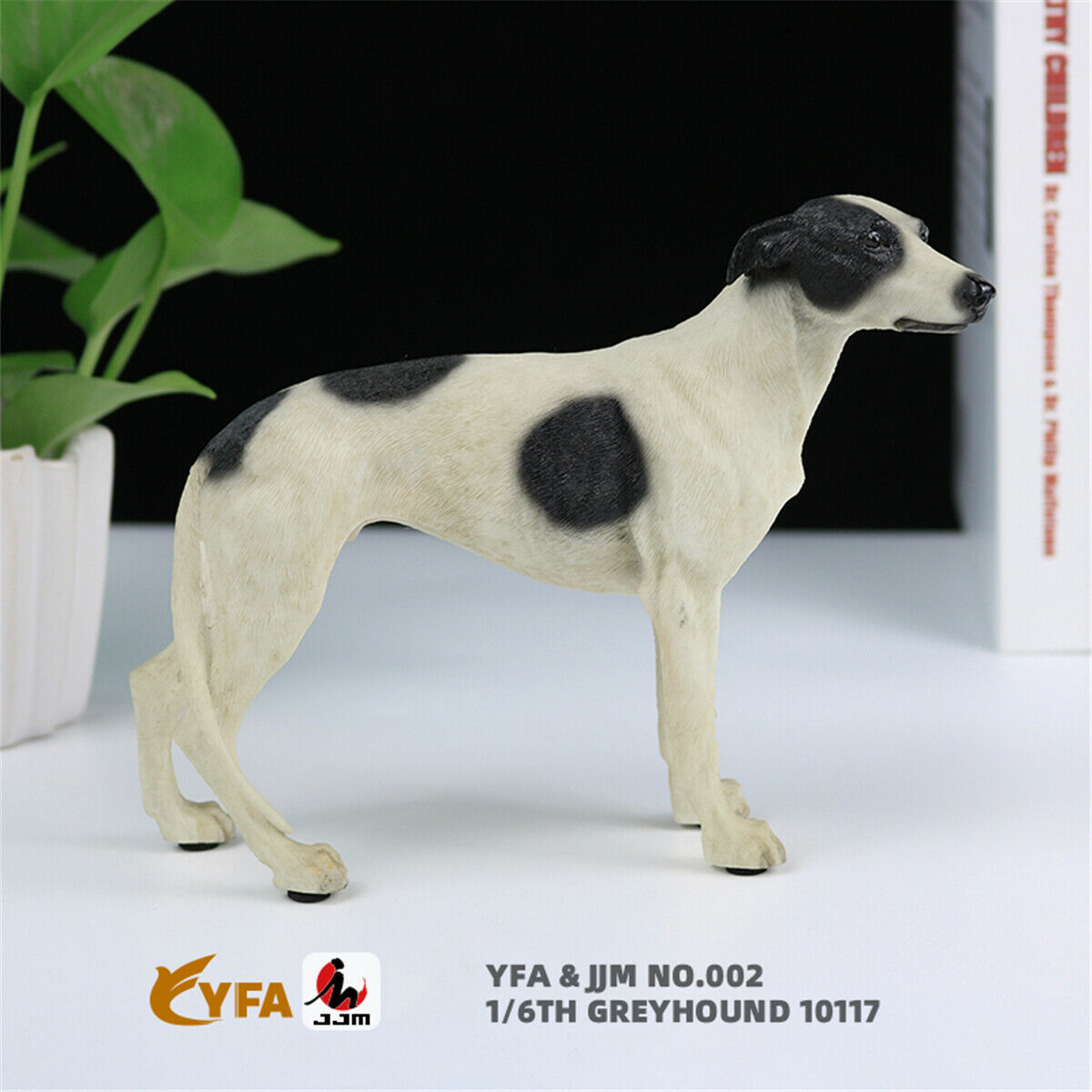 JJM 1//6 Greyhound Greadog Dog Pet Figure Animal Model Toy Gift Car Decoration