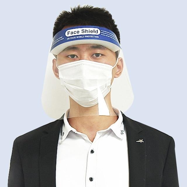 2pcs  Facial Protective Mask Full Covering Face Shield Anti Droplet Saliva Mask Hat Transparent Eyes Protection Adjustable Visor 2
