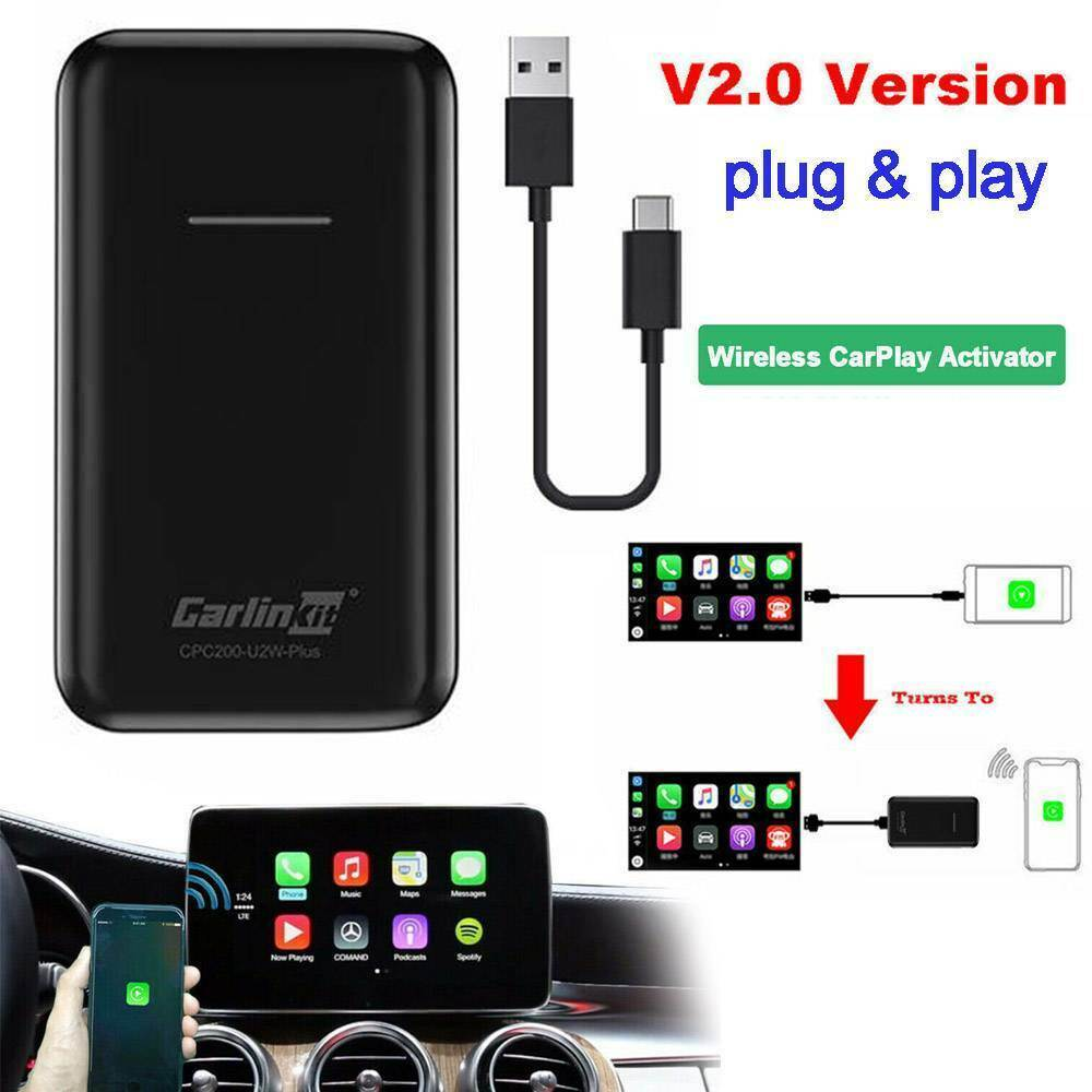 Carlinkit беспроводной адаптер Carplay U2W Plus для Audi VW Mercedes BMW мультимедийный плеер беспроводной активатор для Apple Ios Iphone