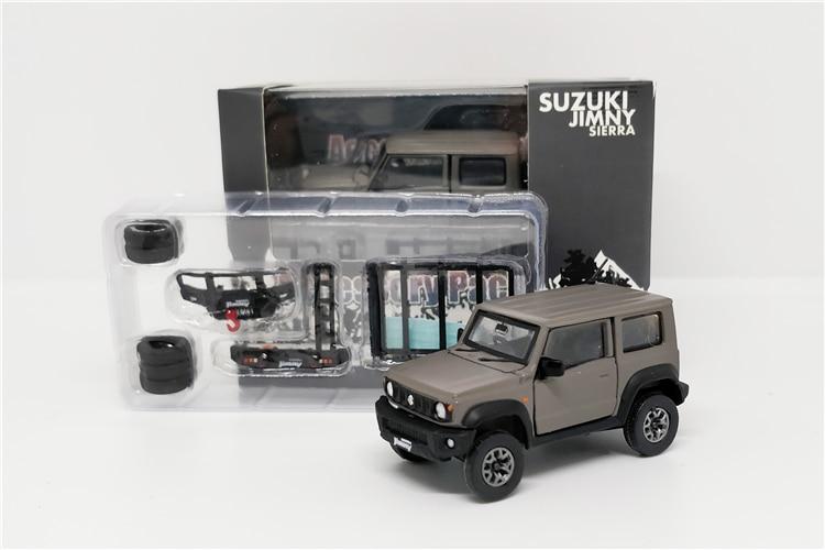 1:64 BM Creations Suzuki Jimny (JB74) Matte Grey W/accessory Pack Right Hand Drive Diecast Model Car