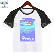 Ponyo Kid Cute T Shirt Children Short Sleeve Clothing Funny Cartoon Party Top Boys and Girl Tshirt