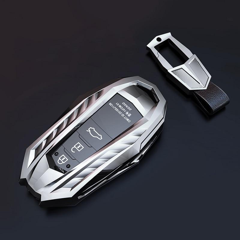 Цинковый сплав чехол ключа дистанционного управления автомобилем чехол держатель для Toyota Camry Corolla C-HR CHR Prado RAV4 Prius 2018 2019 2020 2/3 кнопки