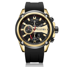 цена на MEGIR Chronograph Men Sport Watch Male Silicone Automatic Date Quartz Watches Men Luxury Brand Waterproof Relogio Masculino