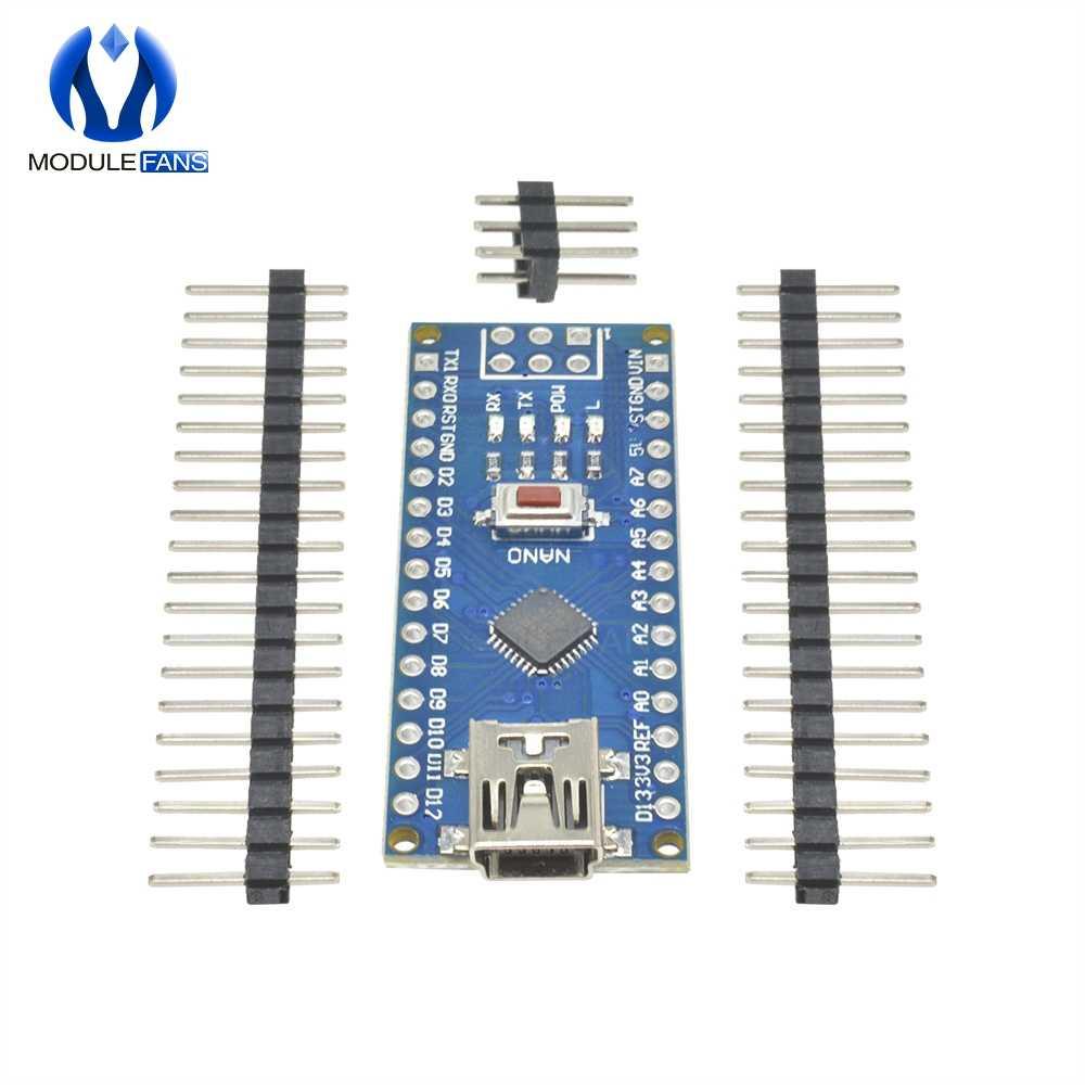 Mini carte contrôleur USB CH340 Nano v3.0 3.0 ATmega328P Compatible pour Arduino Nano CH340 pilote USB Nano V3.0 ATmega328