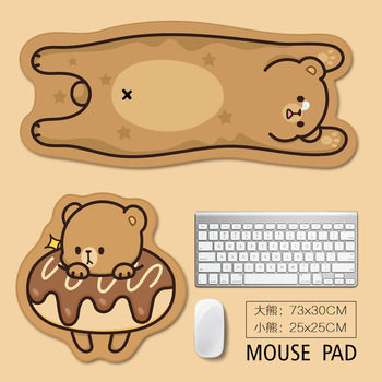 Large mouse pad large computer gaming non-slip natural rubber, cartoon