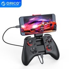 オリコワイヤレスbluetoothのゲームパッドios携帯電話ジョイスティックゲームコントローラ用テレビボックスゲームパッドハンドル