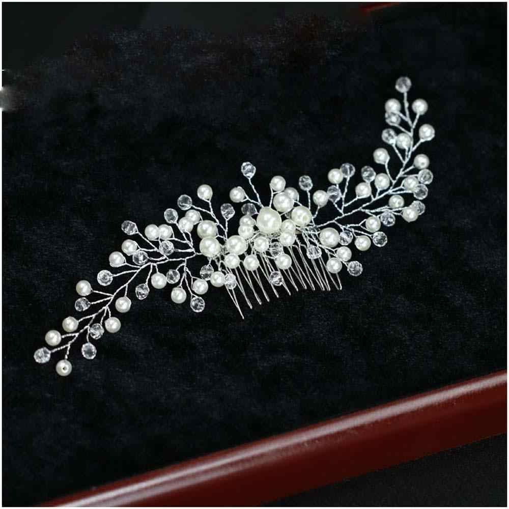 Joyería para el cabello de novia peines de cristal accesorios para el cabello de vestido de boda Horquillas para el cabello para mujer adornos para el cabello hechos a mano