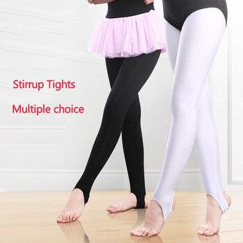 Girls Stirrup Tights Pants Kids Gymnastics Leggings Skinny Ballet Dance Thin Spandex Cotton/Thicker Velvet - discount item  10% OFF Stage & Dance Wear
